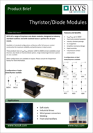 Ixys thyristor and diodes product brief